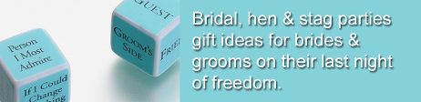 Bridal & Stag Parties - P and S Adams Occasions - Wedding Favours and Gifts
